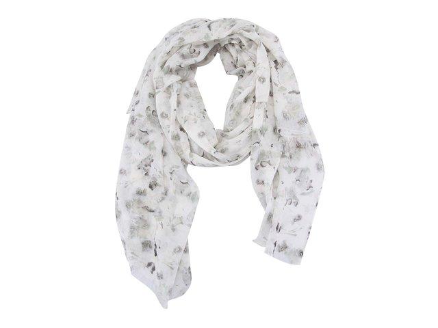 Krémový vzorovaný šátek Pieces Annemone
