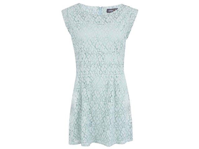 Mentolové krajkované šaty Apricot
