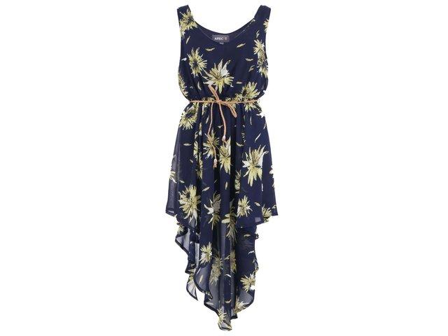 Tmavě modré šaty se žlutými květy Apricot