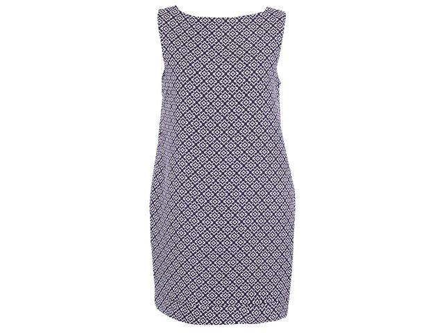 Modré žakárové šaty Apricot