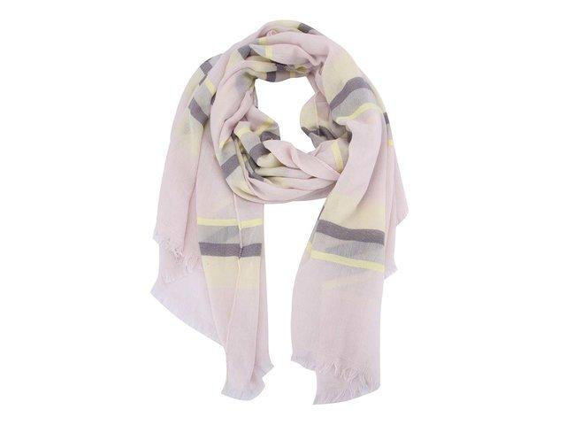 Světle fialový šátek s pruhy Pieces Jilu