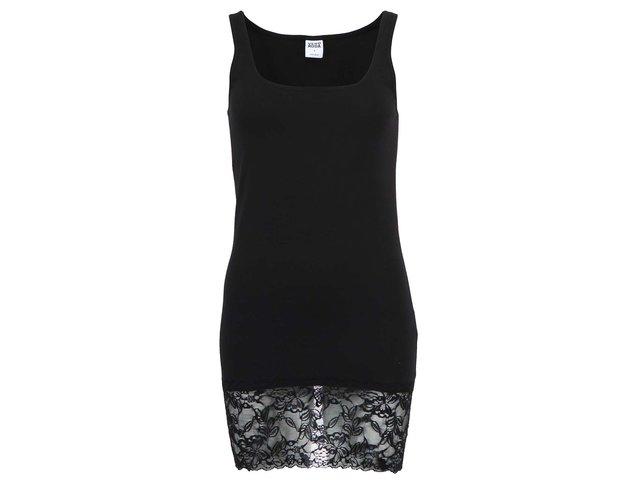 Černé tílko s krajkovým lemem Vero Moda