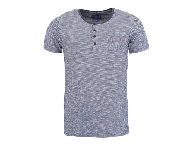 Bílo-modré pruhované triko Dstrezzed Granddad