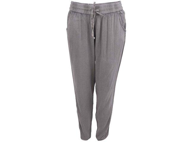 Šedé dámské volné kalhoty YAYA