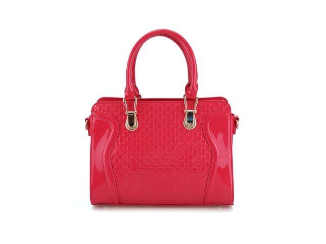 Růžová lakovaná kabelka Gessy
