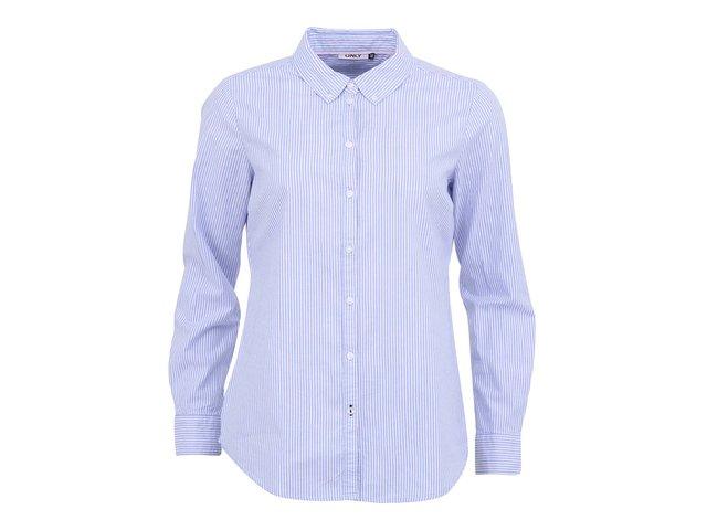 Modrá proužkovaná volnější košile ONLY Cici