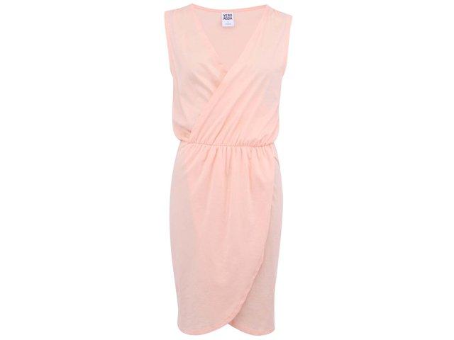 Světle růžové šaty Vero Moda Kiwi