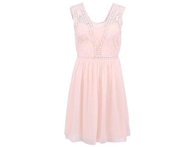 Růžové šaty Vero Moda Dura