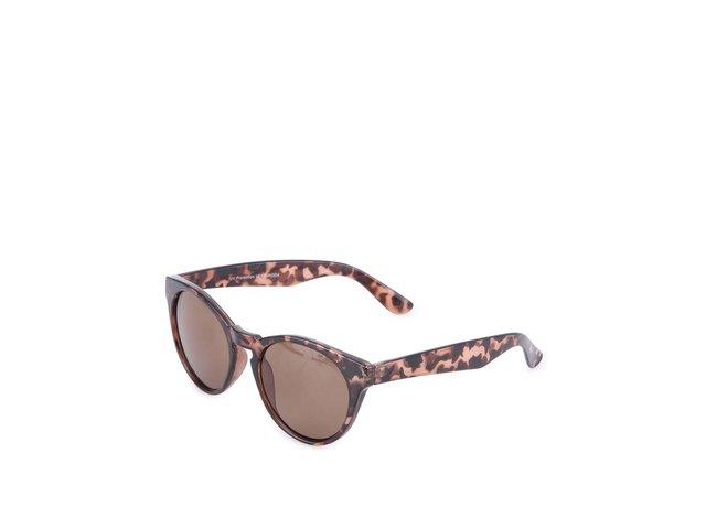 Hnědé maskáčové sluneční brýle Vero Moda Buckthorn Brown
