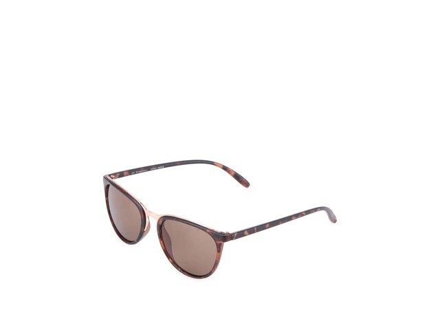 Hnědé leopardí sluneční brýle Vero Moda Chipmunk
