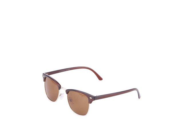 Hnědé sluneční brýle Vero Moda Iron Gate