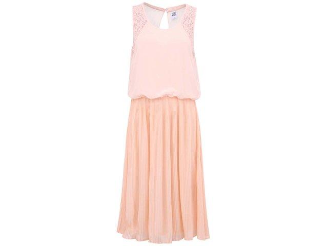 Růžové volné šaty Vero Moda Jasmine