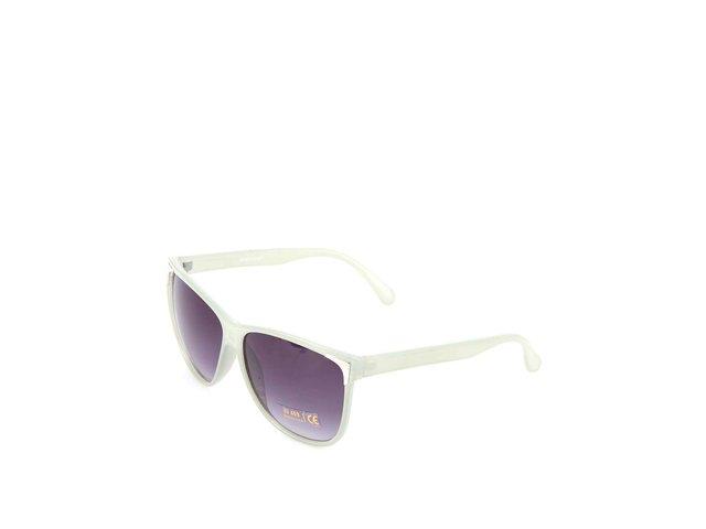 Pistáciové transparentní sluneční brýle Pieces Jill