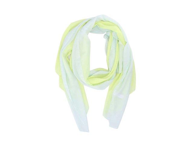 Limetkově zelený dlouhý šátek Pieces Joy