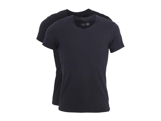 Sada dvou černých triček s véčkovým výstřihem Blend