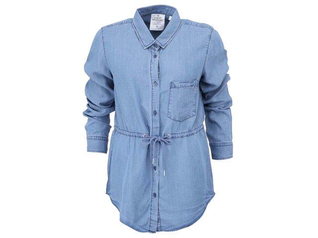 Modrá dámská košile s tkaničkou v pase Cheap Monday Gather