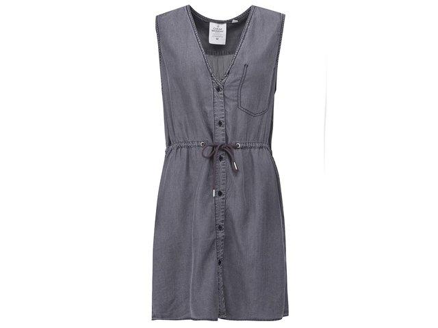 Tmavě šedé šaty s knoflíky Cheap Monday Heart