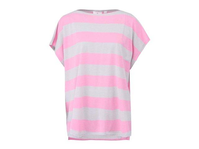 Růžovo-šedé dámské volné tričko Cheap Monday Rocket