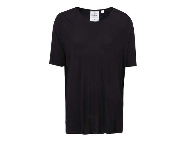 Černé dámské volné tričko s odhalenými zády Cheap Monday Enfold