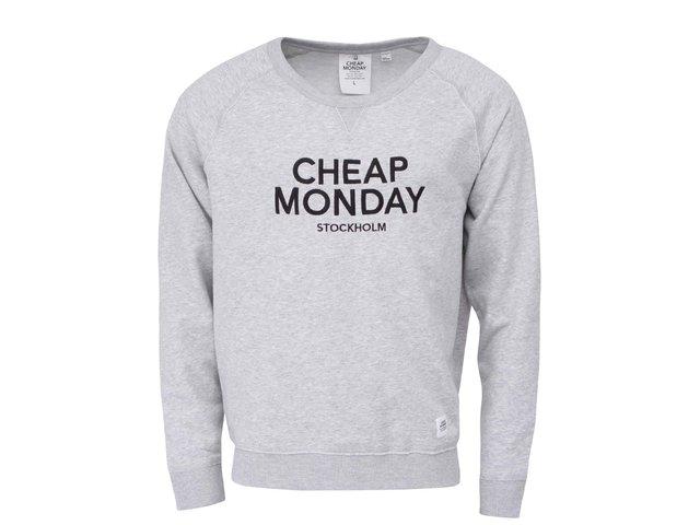 Světle šedá pánská mikina s nápisem Cheap Monday Neil