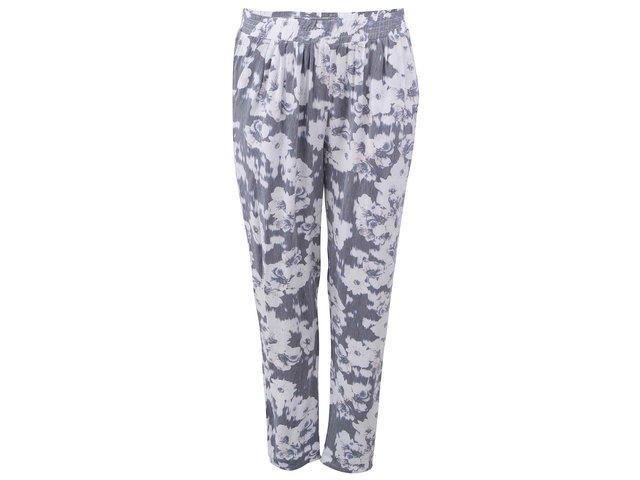 Šedo-bílé květované kalhoty ONLY Blackbird