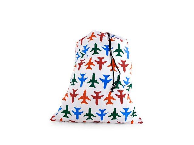 Bílý cestovní pytel na prádlo Kikkerland Letadla