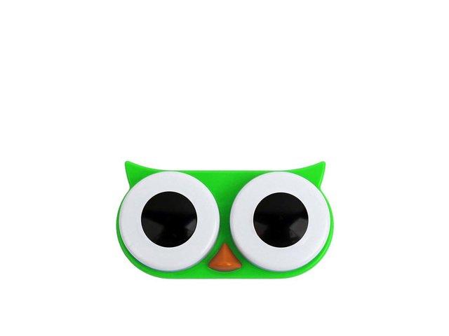 Zelené pouzdro na kontaktní čočky Kikkerland Sova