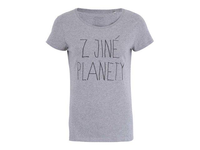 Šedé dámské tričko ZOOT Originál Z jiné planety