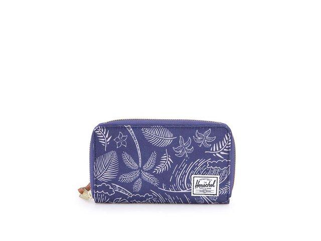 Modrá peněženka s palmovým potiskem na zip Herschel Thomas