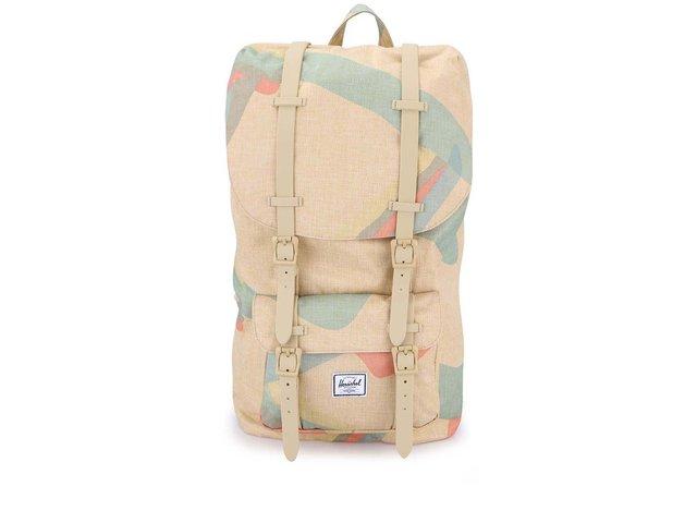 Béžový velký batoh s barevným motivem Herschel Little America