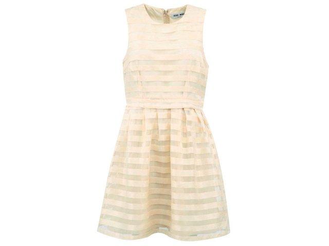Béžové šaty bez rukávů Vero Moda Mush