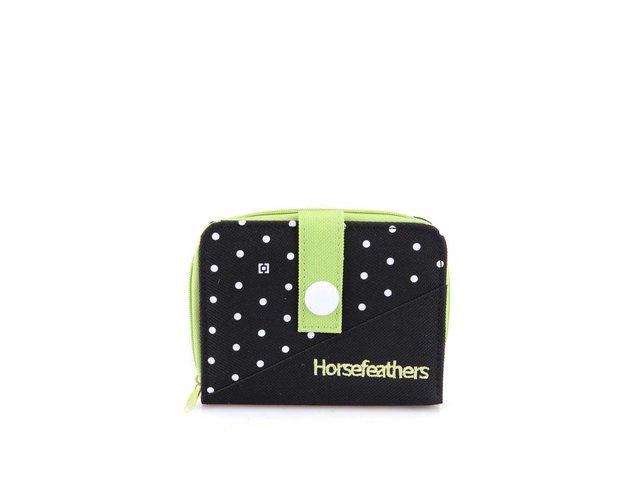 Zeleno-černá peněženka s puntíky Horsefeathers Dot