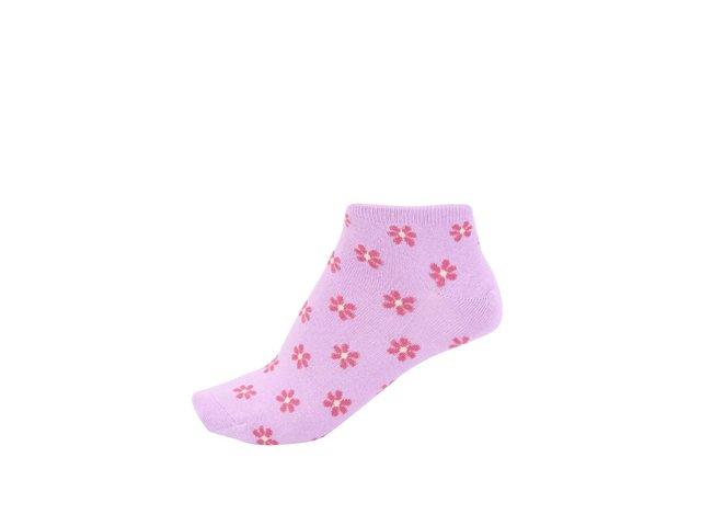 Růžové dámské bambusové ponožky s kytičkami Braintree Jessie
