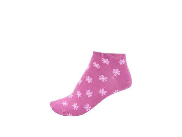 Tmavě růžové dámské bambusové ponožky s kytičkami Braintree Jessie