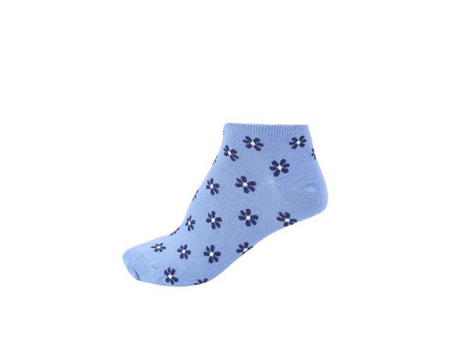 Světle modré dámské bambusové ponožky s kytičkami Braintree Jessie