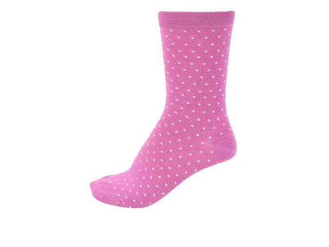 Růžové dámské bambusové ponožky s puntíky Braintree Jarita