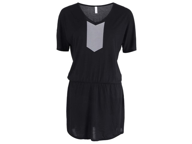 Černé dámské šaty s bílými pruhy ZOOT Originál