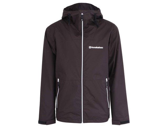 Černá pánská nepromokavá bunda s kapucí Horsefeathers Crystal