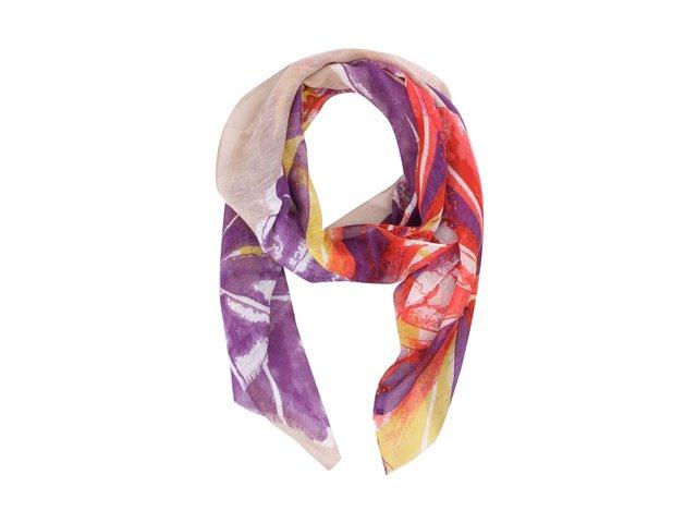 Šedý dutý šátek s motivem krajiny Pieces Vessa  3edf60fdc3