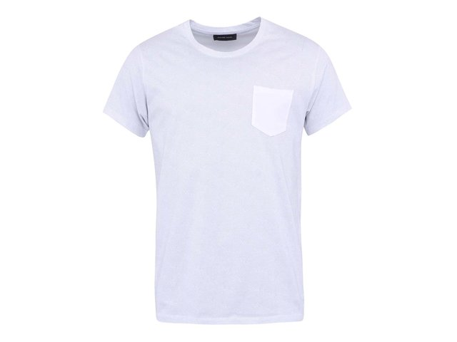 Bílé puntíkované triko Selected Homme Christof