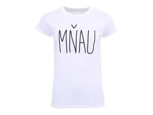 Bílé dámské tričko ZOOT Originál Mňau