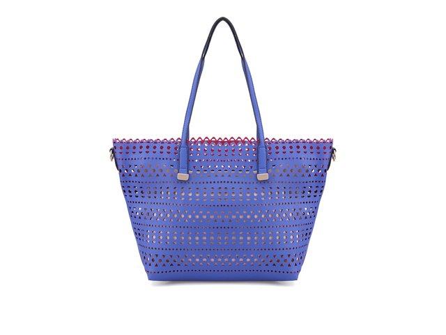 Modrá perforovaná kabelka ALDO Erroinbu