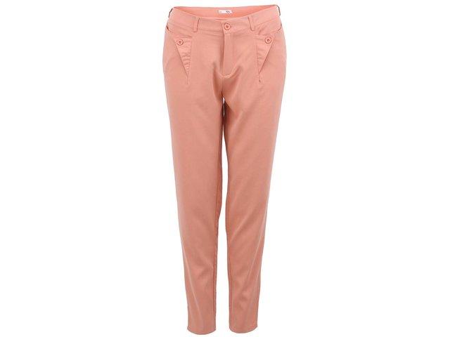Růžové dámské kalhoty rovného střihu Lavand