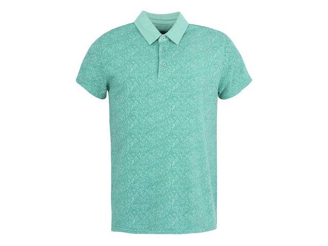 Zelené vzorované polo triko Casual Friday by Blend