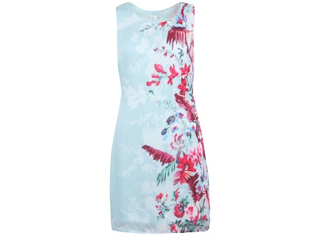 Světle modré dámské šaty s květinovým vzorem Lavand