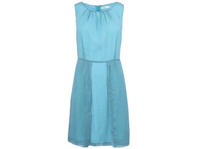 Tyrkysové šaty s dvojitou sukní Lavand