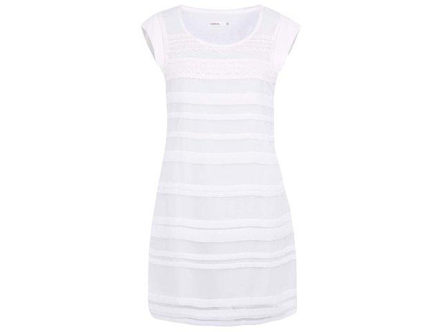 Krémově bílé šaty s aplikací krajky Lavand