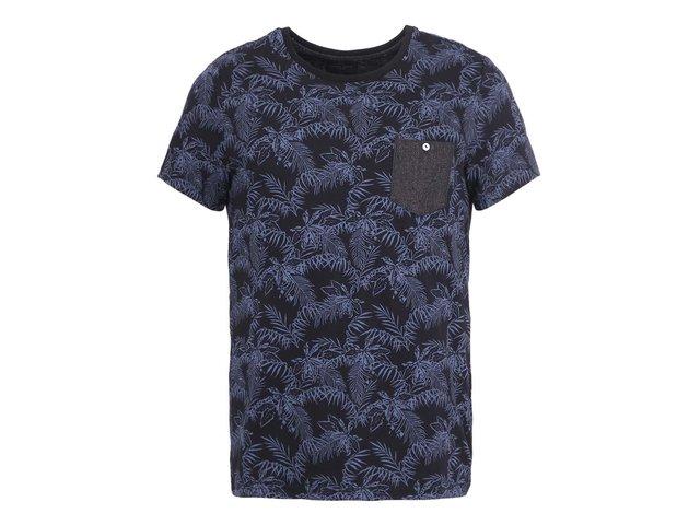 Černé triko s palmovým vzorem Casual Friday by Blend