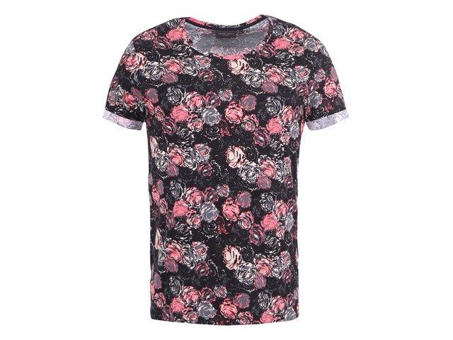 Černé triko s květovaným vzorem Casual Friday by Blend