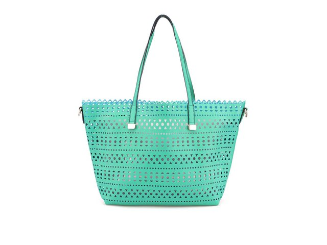 Zelená perforovaná kabelka ALDO Erroinbu